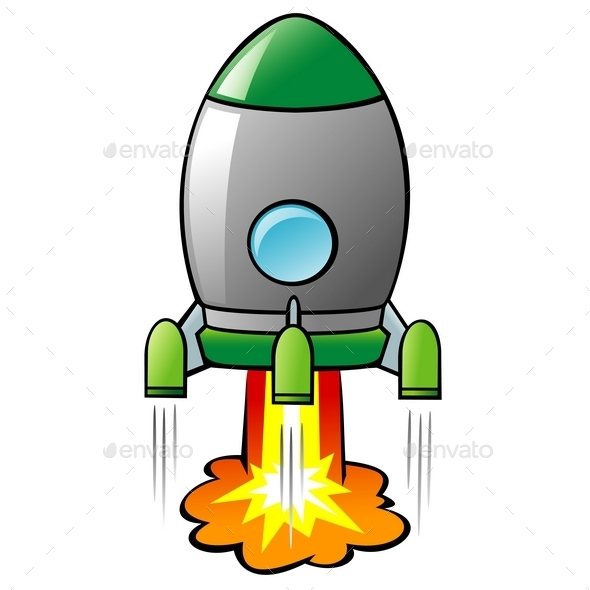 GraphicRiver Cartoon Rocket 10029138