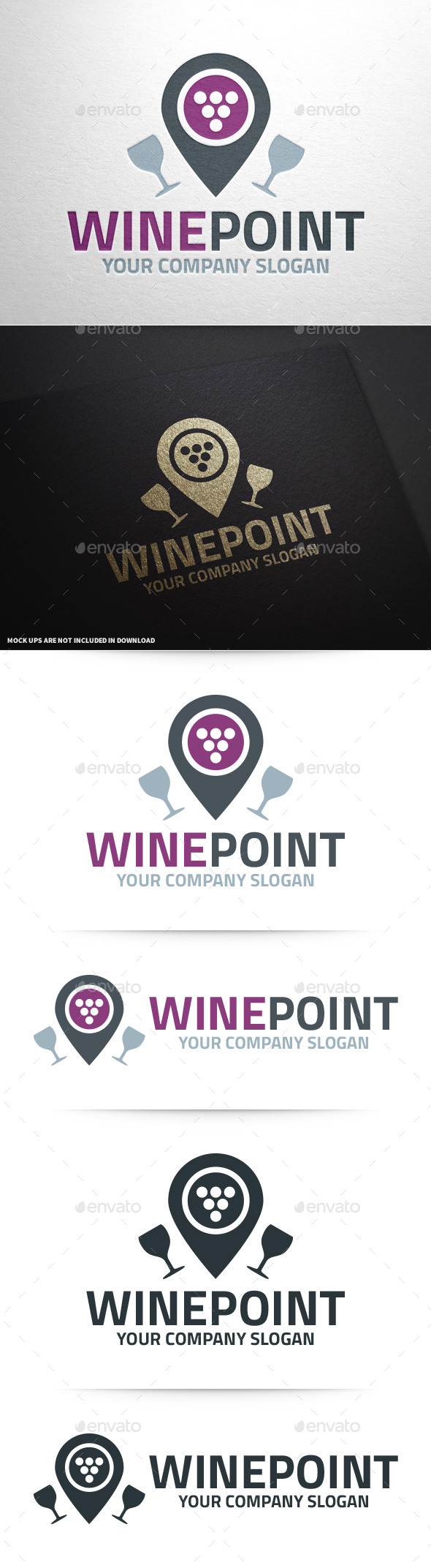 GraphicRiver Wine Point Logo Template 10029147