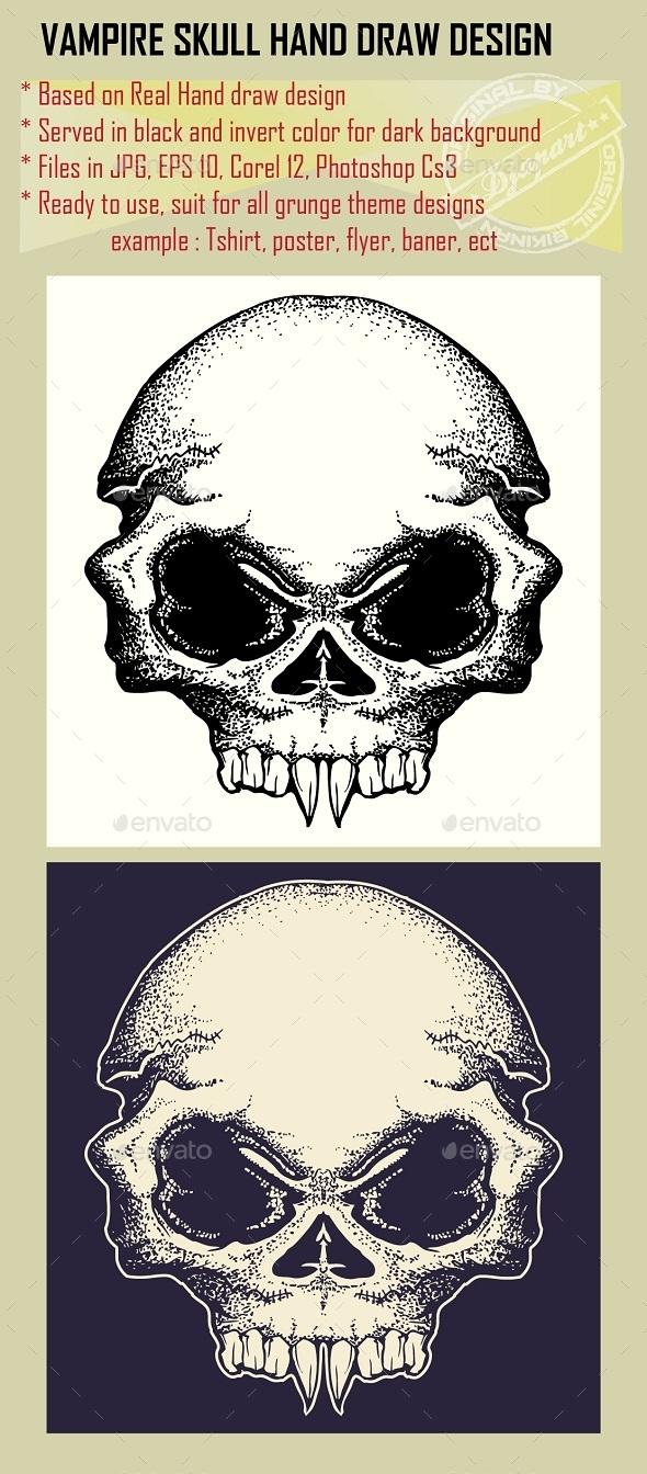 GraphicRiver Vampire Skull 10029155