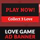 Valentine Love Game GWD HTML5 Ad Banner