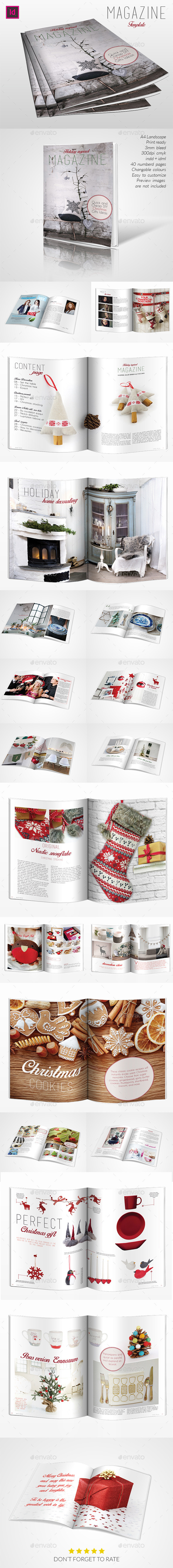 GraphicRiver Holyday Inspired Magazine Template 10029345