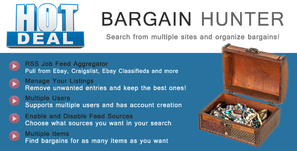 CodeCanyon Bargain Hunter Bargain Sites RSS Aggregator 10029346