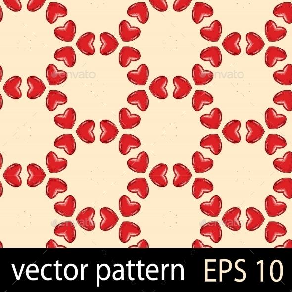 GraphicRiver Hearts Pattern 10029454