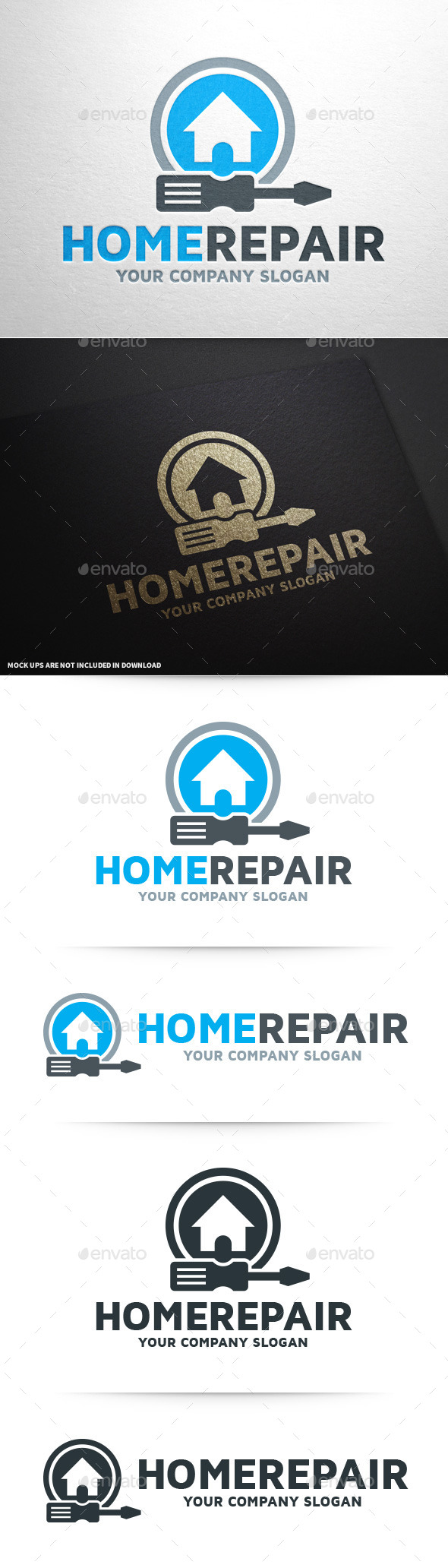 GraphicRiver Home Repair Logo Template 10029490