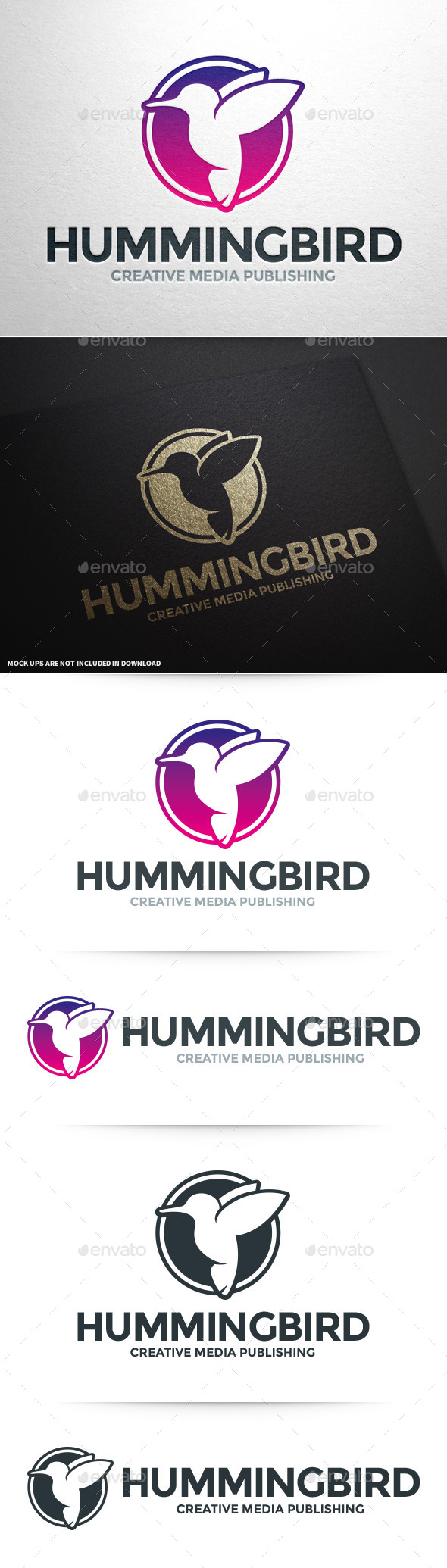 GraphicRiver Humming Bird Logo Template 10029555