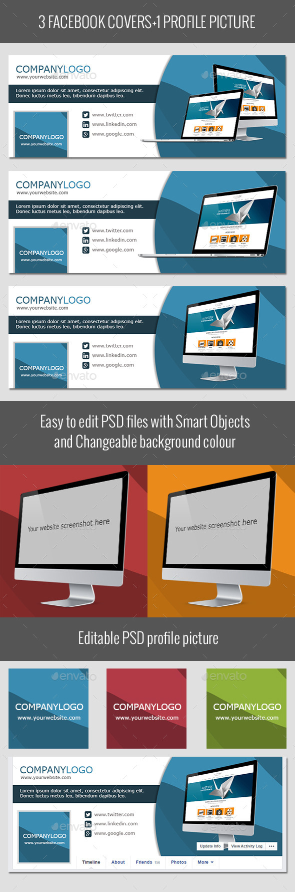 GraphicRiver Corporate Facebook Covers 10029601
