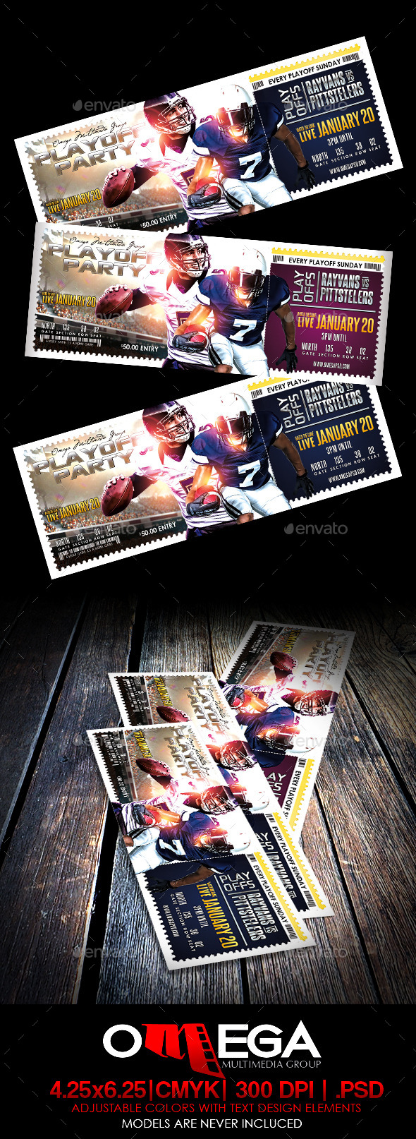 GraphicRiver Playoff Party Ticket 10020791