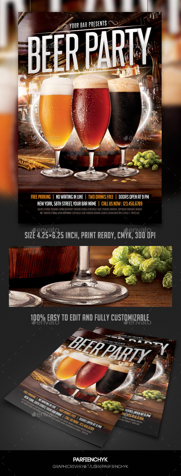 GraphicRiver Beer Party Flyer Template 10029731