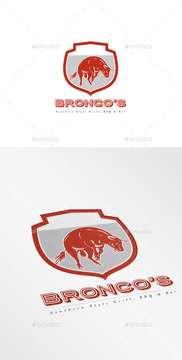 GraphicRiver Bronco s Southern Bar and Grill Logo 10029903