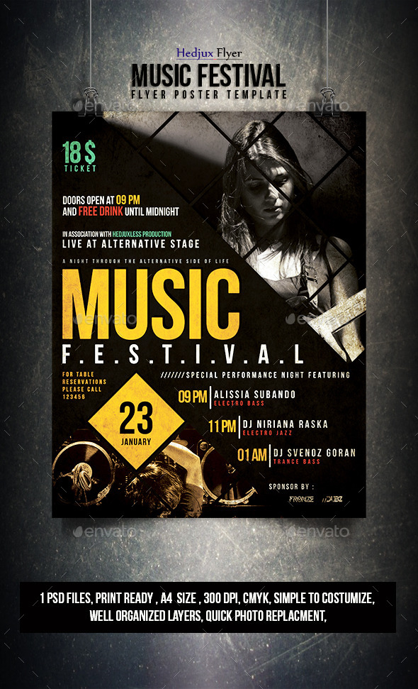 GraphicRiver Music Festival Flyer 10029911