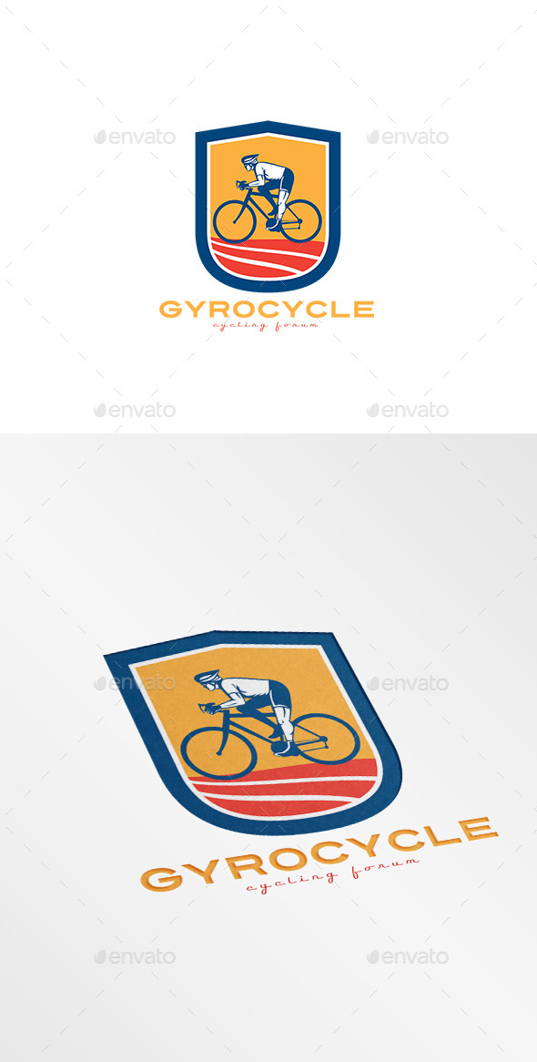 GraphicRiver Gyro Cycles Cycling Forum Logo 10029956