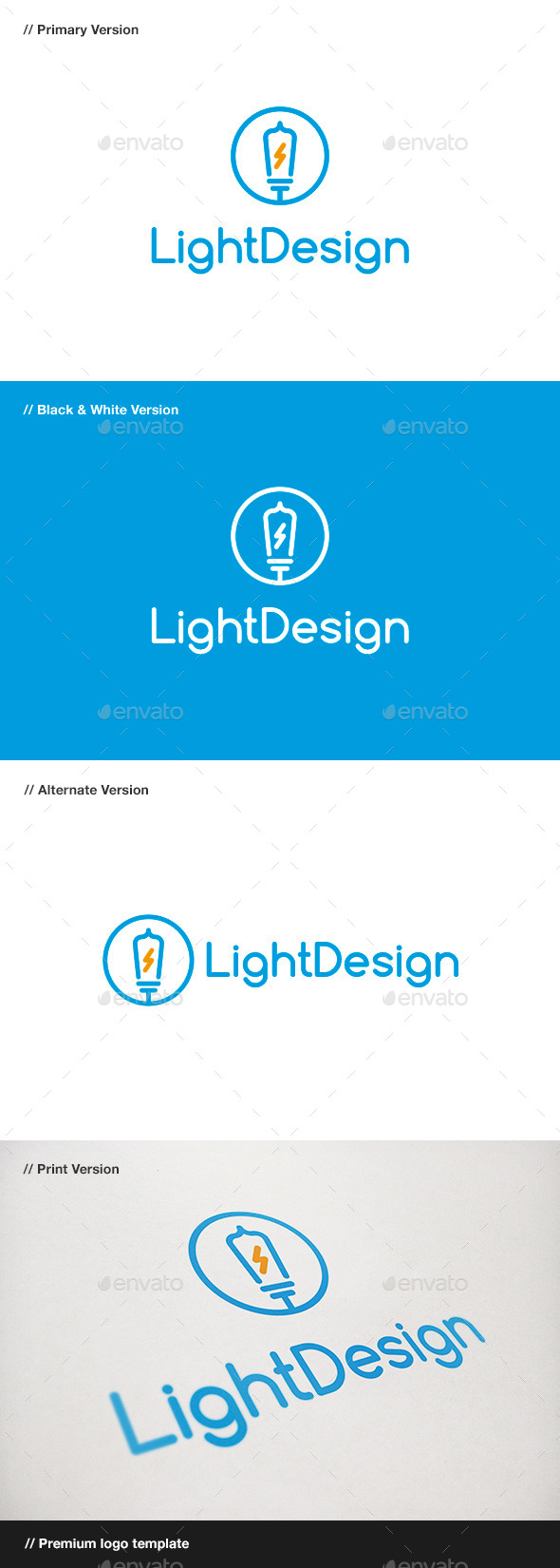 GraphicRiver Light Design Logo 10030723