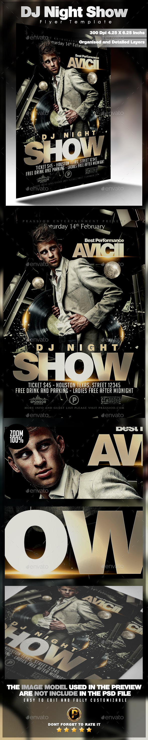 GraphicRiver DJ Night Show Flyer Template 10030728
