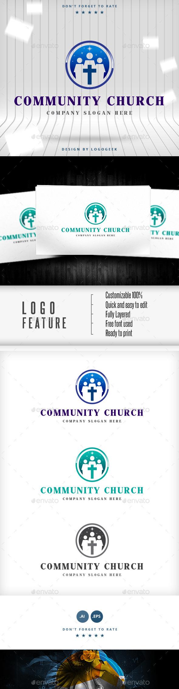 GraphicRiver Community Church Logo 10031508