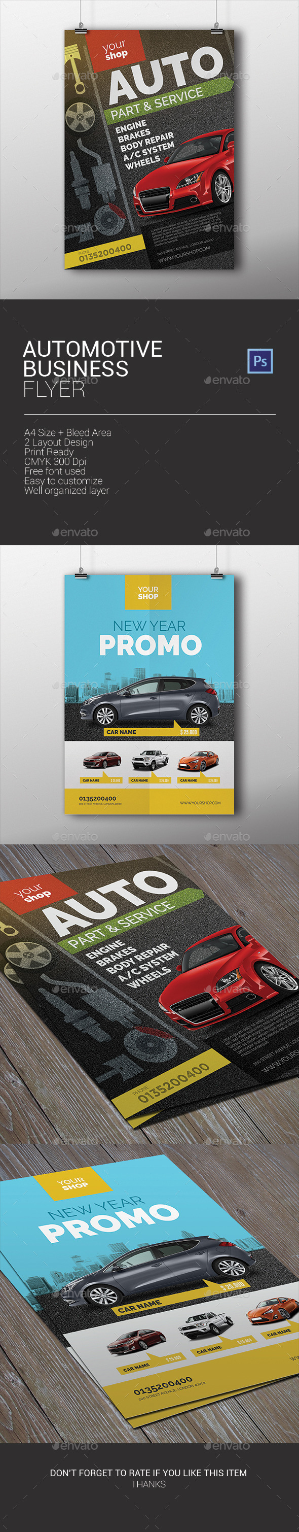 GraphicRiver Automotive Business Flyer 10031704