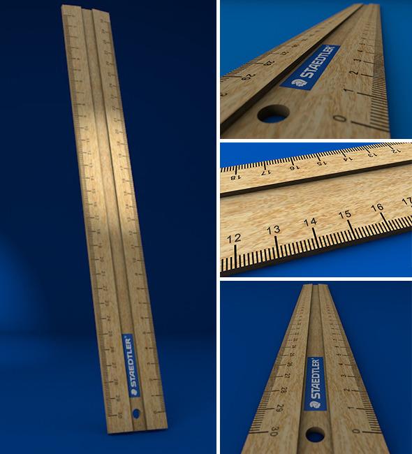 3DOcean Wooden Ruler 10031724