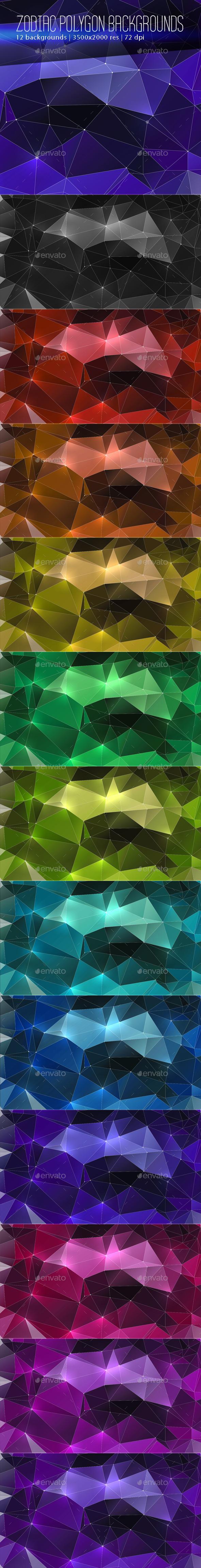 Zodiac Polygon Backgrounds