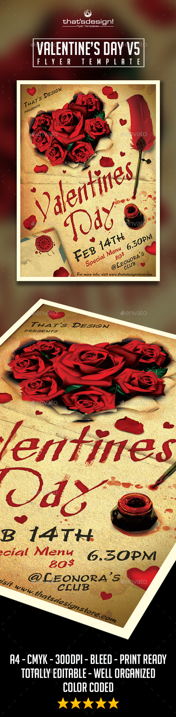 GraphicRiver Valentines Day Flyer Template V5 10031900
