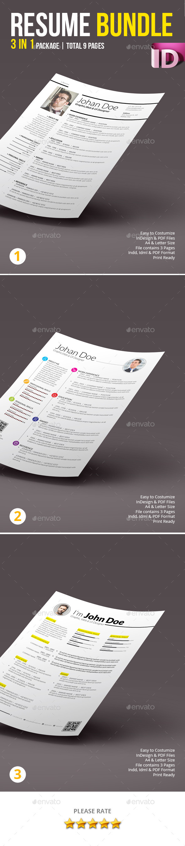 GraphicRiver Resume Bundle 01 10032020