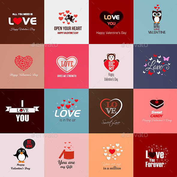 GraphicRiver Happy Valentines Day Cards 9960099