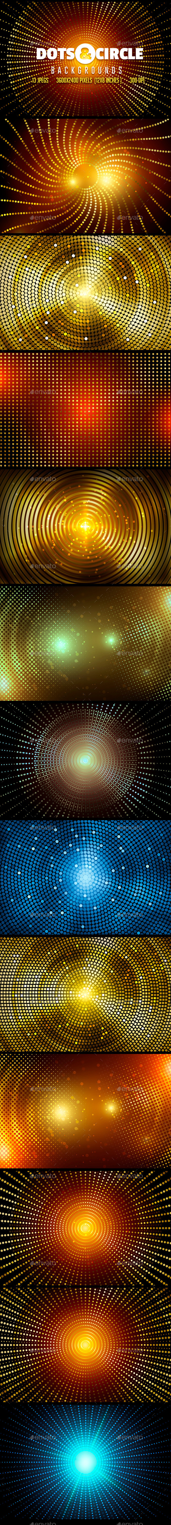 GraphicRiver Dots & Circle Backgrounds 10032062