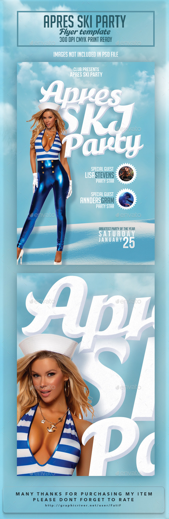 GraphicRiver Apres Ski Party Flyer Template 10032415