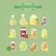 Collection of Jars with Juice - GraphicRiver Item for Sale