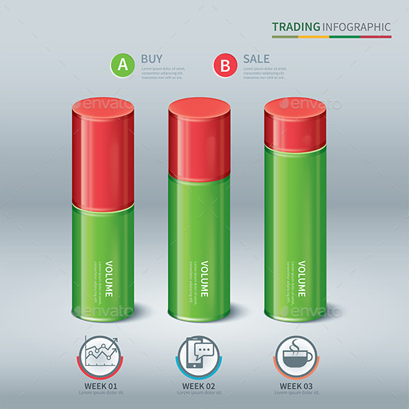 GraphicRiver Trading Cylindrical Bars Infographic 10032451