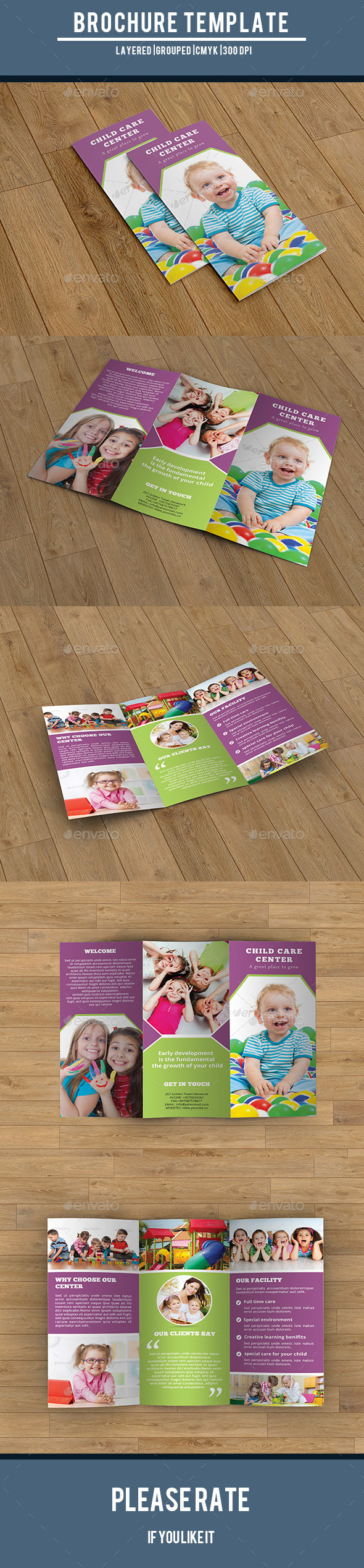 GraphicRiver Child Care Center Trifold-V215 10032493