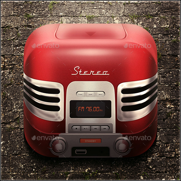 GraphicRiver Radio icon 10032604