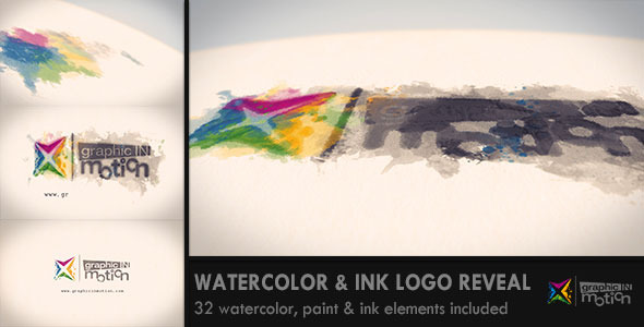 Watercolor & Ink Logo Reveal