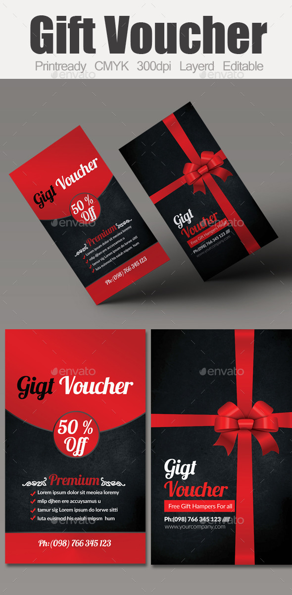 GraphicRiver Multi Use Business Gift Voucher 10032849