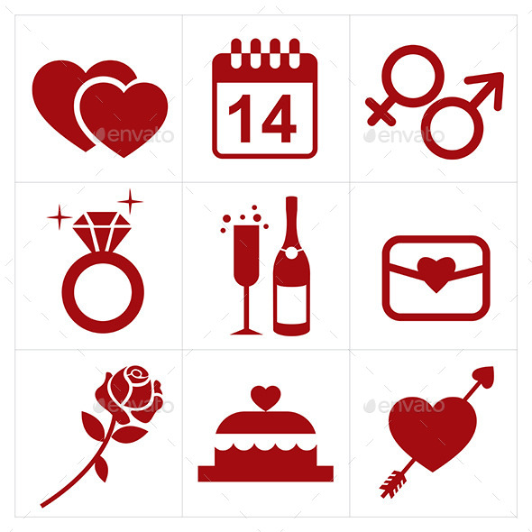 GraphicRiver Valentines Icon Set 10032853