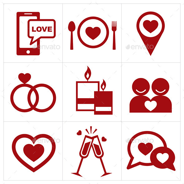 GraphicRiver Valentines Icon Set 10032866