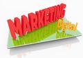 Digital Marketing on Tablet - PhotoDune Item for Sale