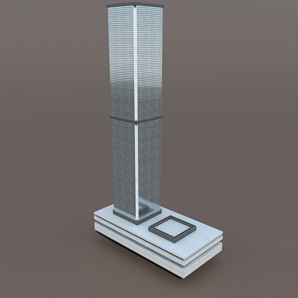 3DOcean Skyscraper #3 Low Poly 3D Model 10033275