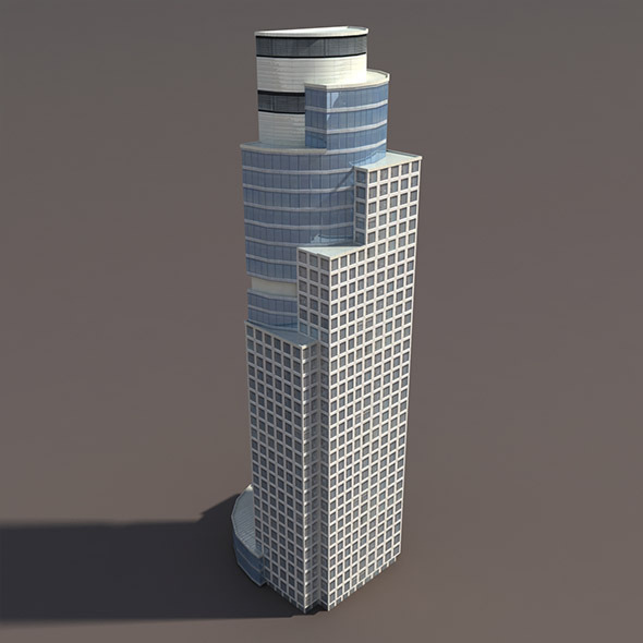 3DOcean Skyscraper #2 Low Poly 3D Model 10033322
