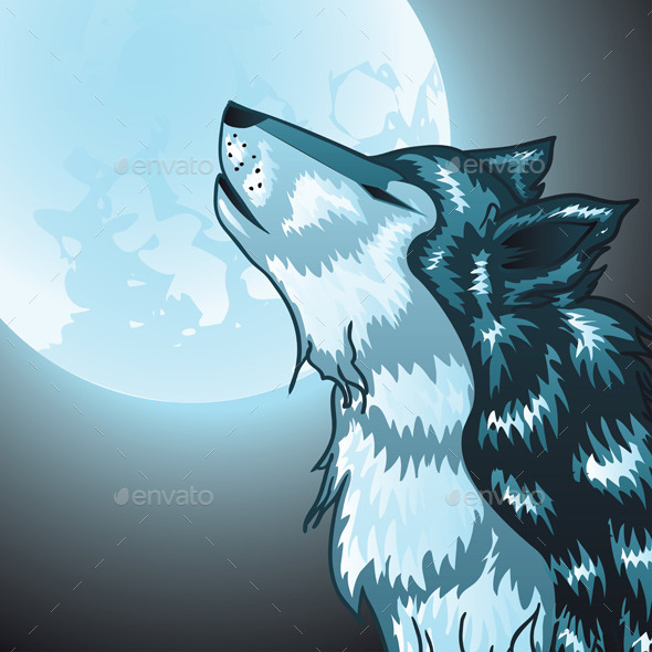 GraphicRiver Howling Wolf Head 10033364