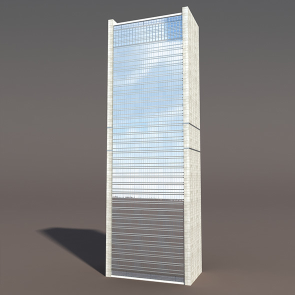 3DOcean Skyscraper #1 Low poly 3D Model 10033426