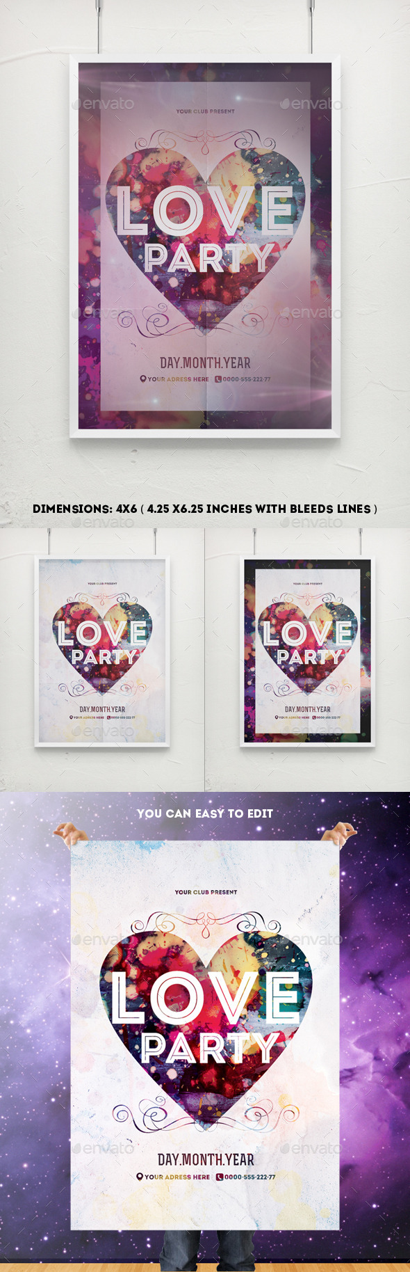 GraphicRiver Bright Love Party Poster Template 10033614