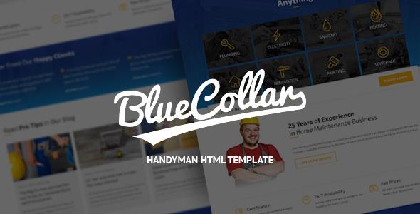 ThemeForest Blue Collar Handyman HTML Template 10033732