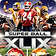 Super Ball Football Party Flyer Template - GraphicRiver Item for Sale