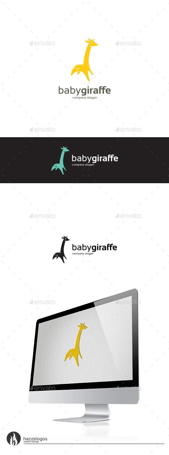 GraphicRiver Baby Giraffe Logo 10033881