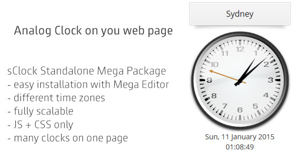 CodeCanyon sClock Mega Package Analog Clocks w TimeZones 10033902