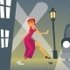 Pin-up Woman in Danger on Street - GraphicRiver Item for Sale