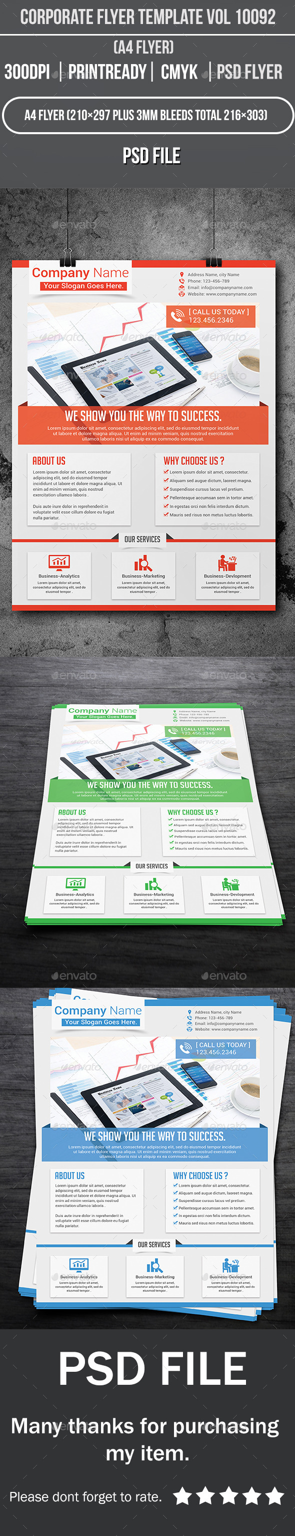 GraphicRiver Corporate Flyer Template Vol 10092 10034307