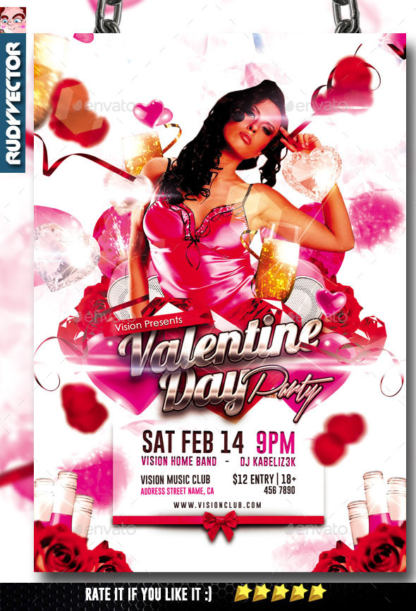 Valentine Day Party Flyer Graphicriver