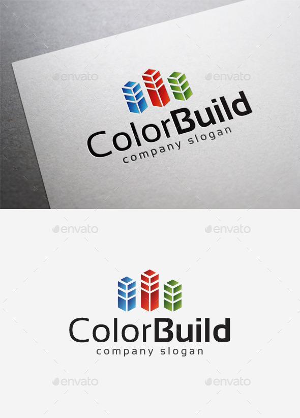 GraphicRiver Color Build Logo 10034827