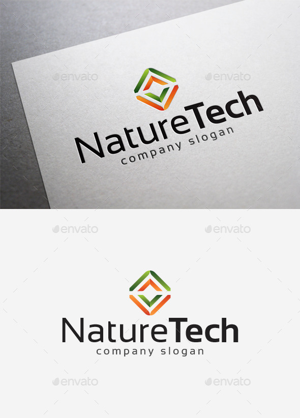 GraphicRiver Nature Tech Logo 10034869