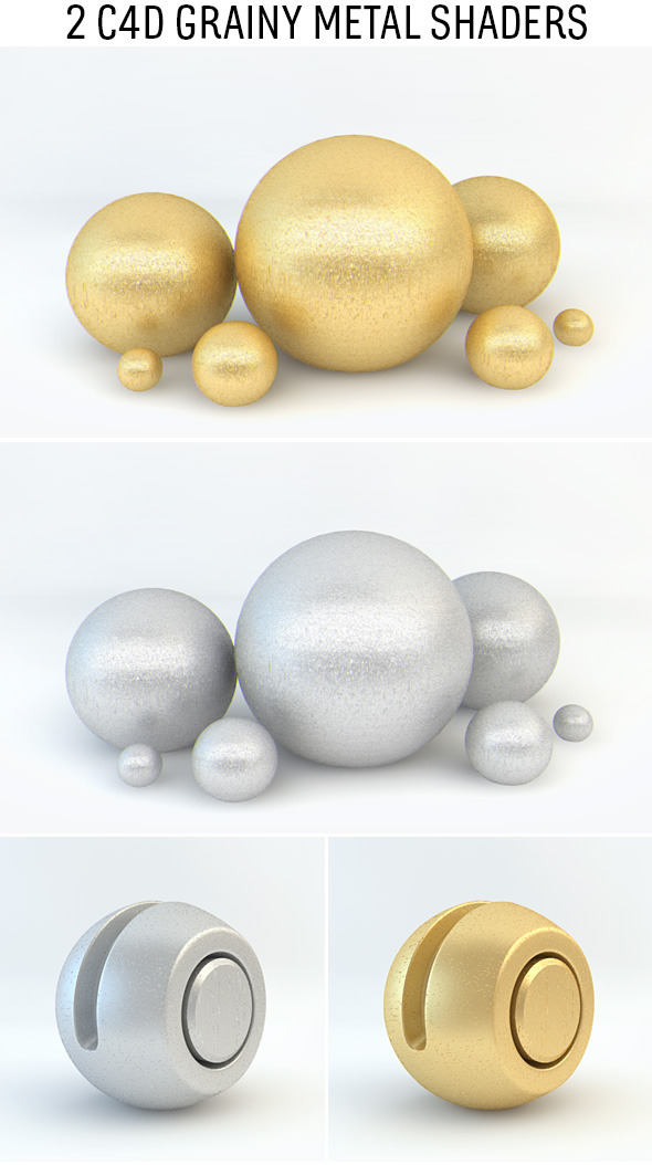 3DOcean Grainy Metal Shaders for C4D 10035087